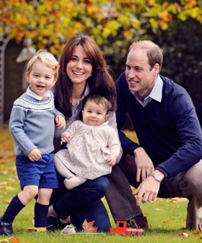 George's little sister Princess Charlotte was left at home for his big debut.