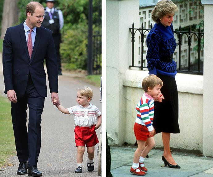 "George's first day went off without a hitch. ""Both the Duke and Duchess dropped him off today and it seems all went well,"" a source told *Hello!* magazine."