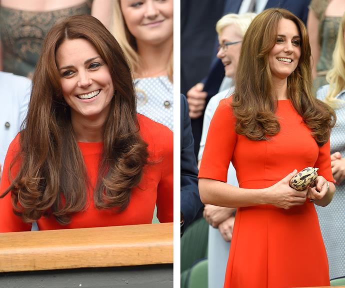 **The Queen of good hair:** The Duchess' shiny, flawless locks are royalty in their own right.