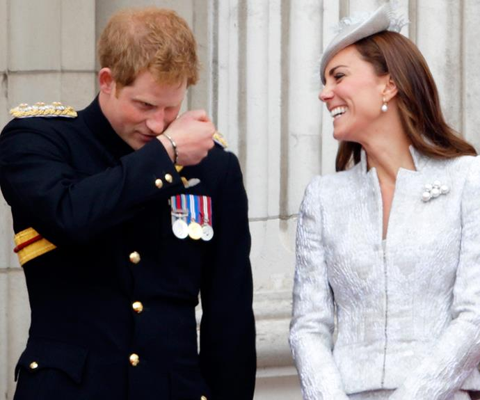 "**Regal BFFs:** Catherine's close bond with her brother-in-law Harry is truly heart-warming. ""To have a big sister is very, very nice... She's a fantastic girl, she really is, my brother is very lucky,"" Harry mused."