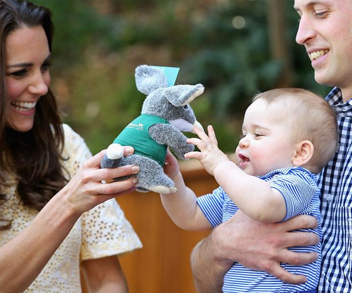 **Family comes first:** Watching Kate interact with George makes it easy to see she's a natural with kids.