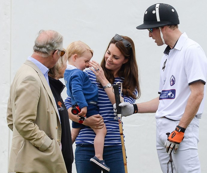 """**Getting to know grandpa:** Catherine has ensured Prince Charles is very much a part of her kids' lives, and the 70-year-old couldn't be happier. """"[Charlotte and George will] look after me when I'm tottering about,"""" Charles joked."""