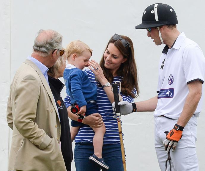 "**Getting to know grandpa:** Catherine has ensured Prince Charles is very much a part of her kids' lives, and the 70-year-old couldn't be happier. ""[Charlotte and George will] look after me when I'm tottering about,"" Charles joked."