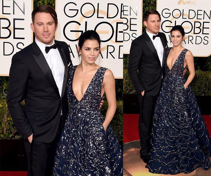 Fresh from their epic appearance on *Lip Sync Battle*, golden couple Channing Tatum and Jenna Dewan Tatum scrubbed up beautifully.
