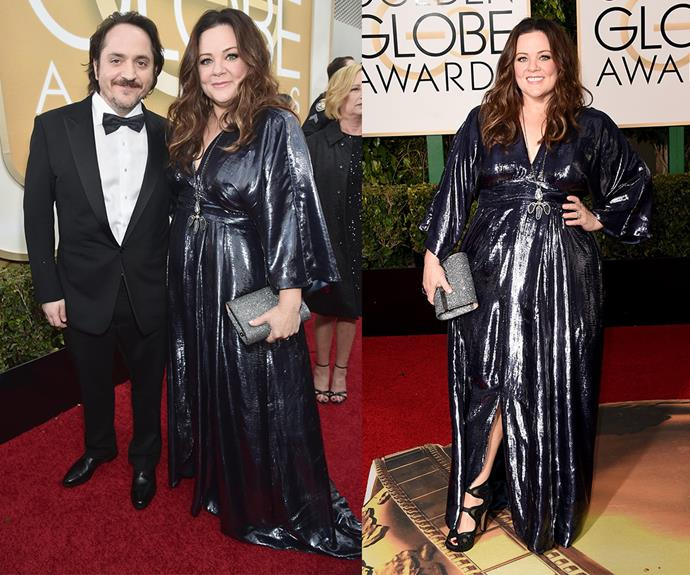 [Melissa McCarthy](http://www.womansday.com.au/style-beauty/health-body/melissa-mccarthy-wows-at-the-peoples-choice-awards-14430) packed a punch in a metallic silver wrap dress.