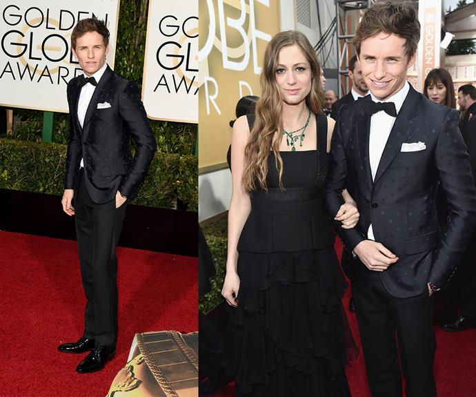 *The Danish Girl* actor and Best Performance nominee Eddie Redmayne was joined by his pregnant wife Hannah Bagshawe.