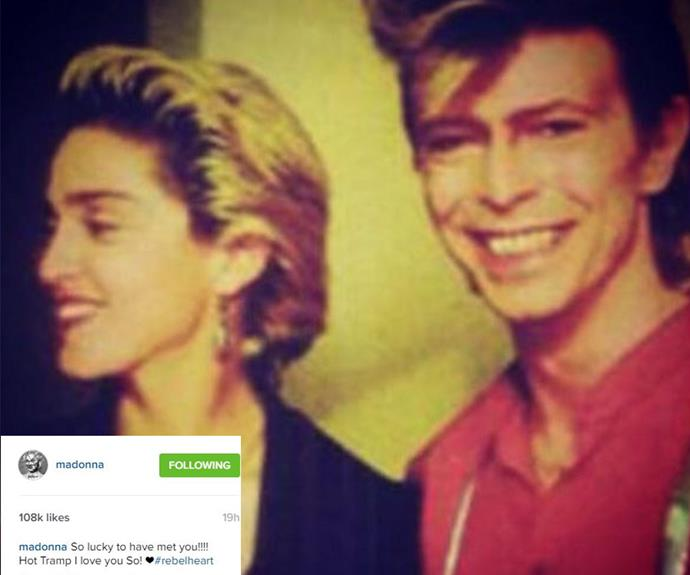 Madonna paid tribute via Instagram.