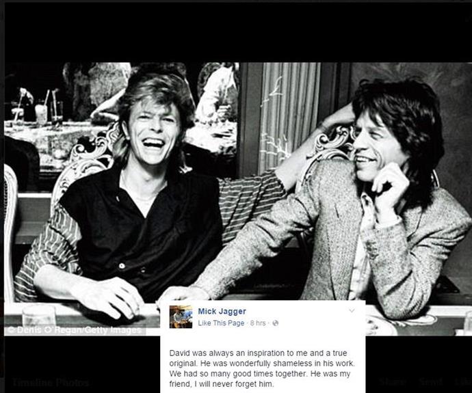 "Rolling Stones singer Mick Jagger described him as a ""true original."""