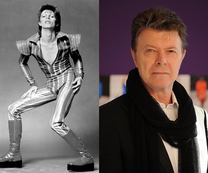"""The tragic news was released on the star's Facebook page in a message which read: """"January 10 2016 - David Bowie died peacefully today surrounded by his family after a courageous 18 month battle with cancer. While many of you will share in this loss, we ask that you respect the family's privacy during their time of grief."""""""