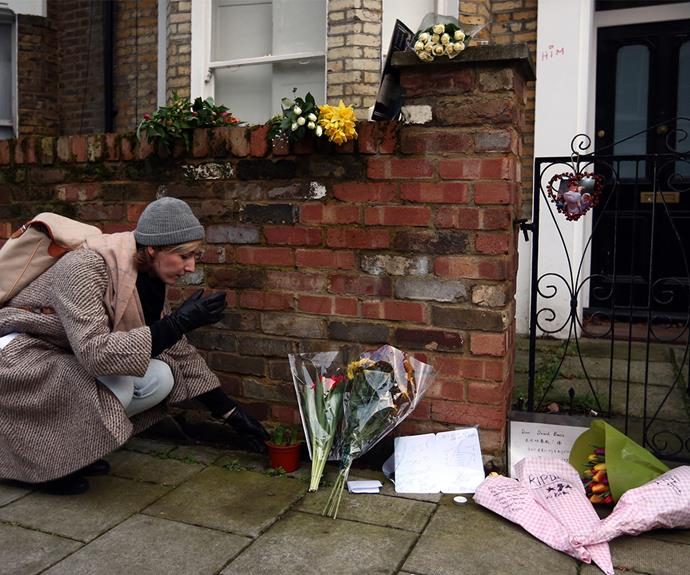 His childhood home in the south London district has also been flooded with flowers and notes.