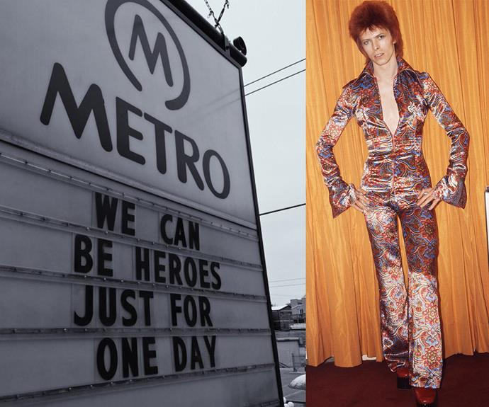 The Metro in Chicago's homage was understated yet perfect.