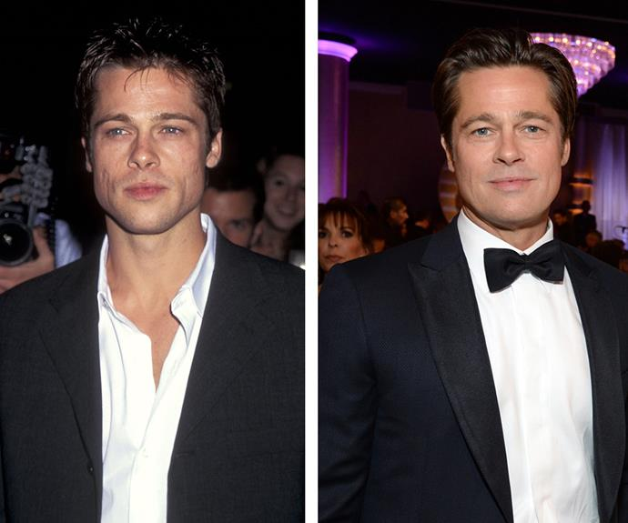 Brad Pitt has held heartthrob status in Hollywood for decades, and the star shows he only gets better with age. Pictured in 1996 on the left and [at the 2016 Golden Globes](http://www.womansday.com.au/style-beauty/red-carpet/the-2016-golden-globe-awards-14435) on the right, the father-of-six proves he can still melt hearts at 52. Wonder what his secret is...