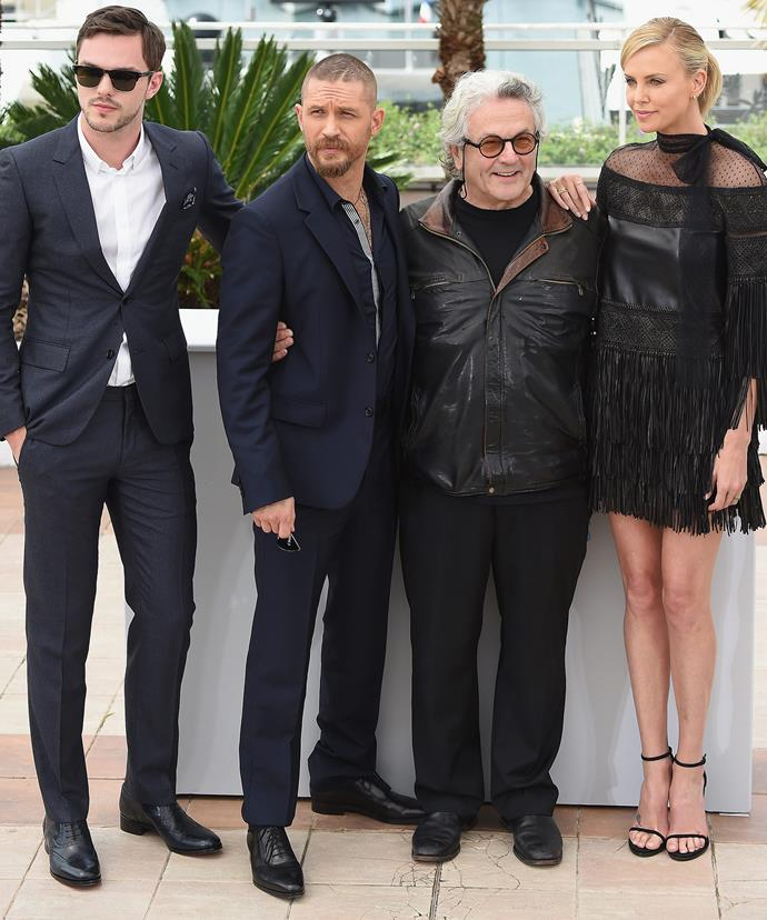 Aussie triumph! Director George Miller's *Mad Max: Fury Road* was filmed in Australia and stars Nicholas Hoult, Tom Hardy and Charlize Theron.