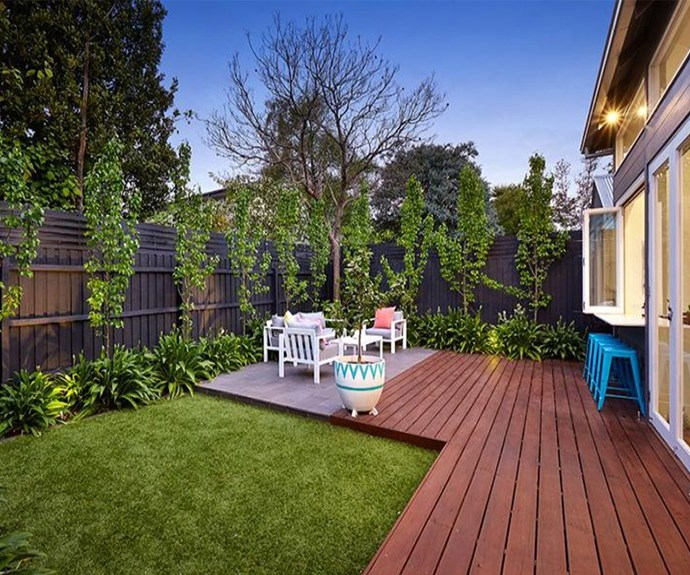 But seriously, that is one lovely backyard. We imagine Eve and Sam will have all kinds of fun. (All photos of the home from [realestate.com.au](http://www.realestate.com.au/buy))