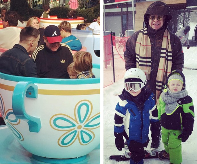 The holiday season has been jammed packed for Furnish-John family with a trip to Disneyland and a skiing holiday.