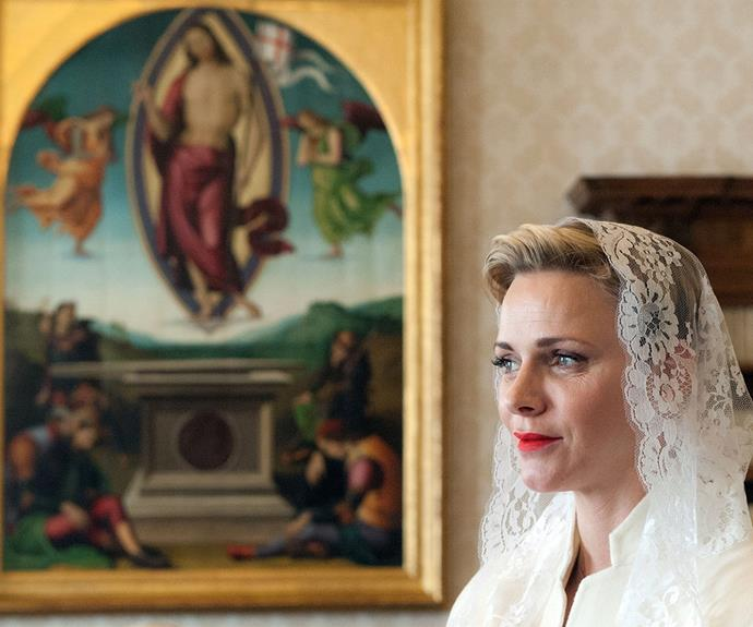 """Catholicism is the state religion [in Monaco]. But for me, it represents much more. The values of this religion profoundly touch me and correspond perfectly to my spirit,"" she has said."