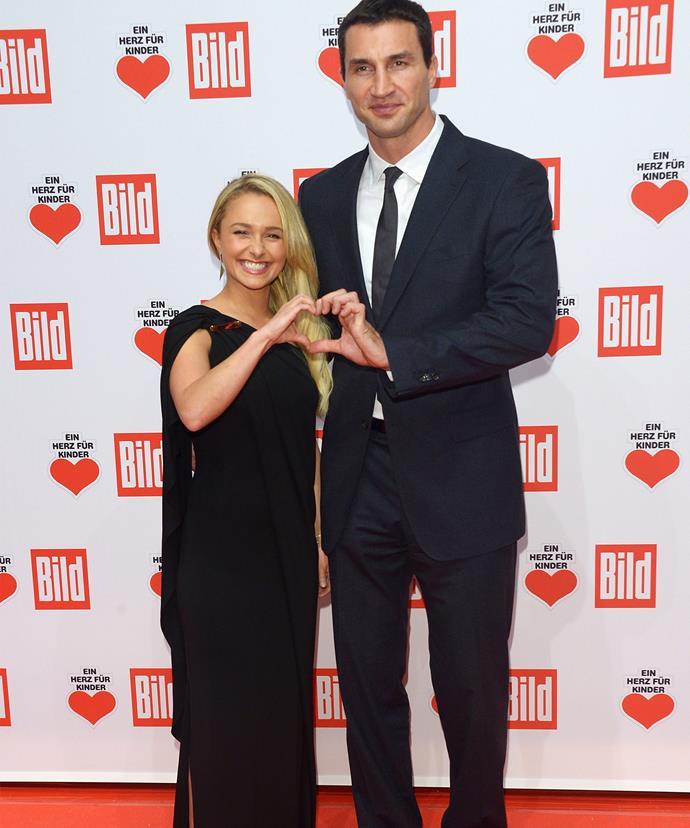 Hayden with fiancé and baby daddy Wladimir Klitschko.
