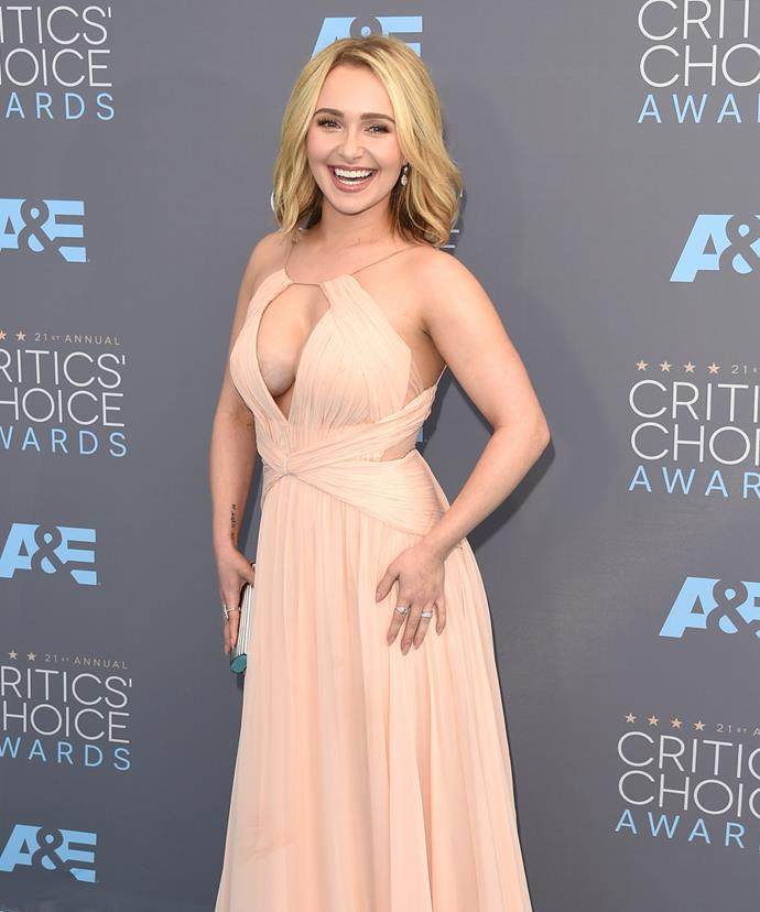 Hayden dressed in a stunning Maria Lucia Hohan gown for the Critic's Choice Awards.