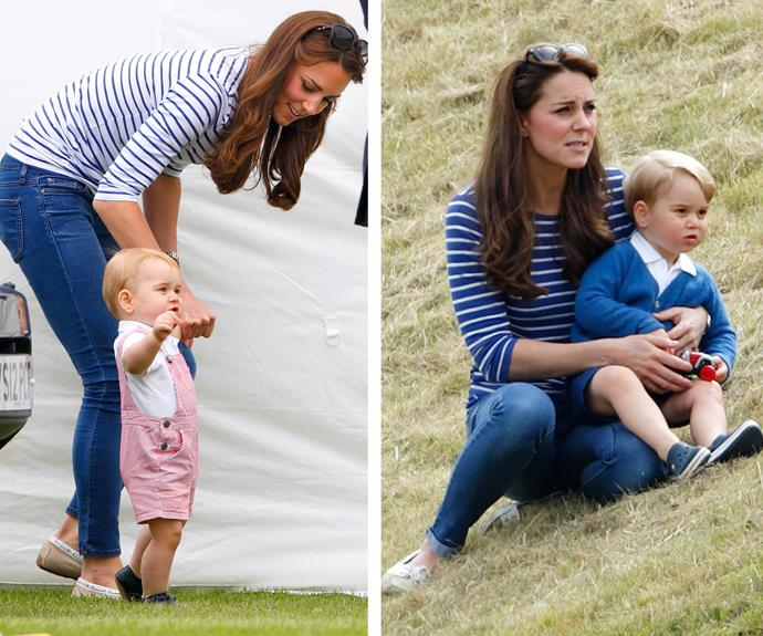 But the only thing that can top a striped tee uniform is the addition of one VERY adorable Prince George.