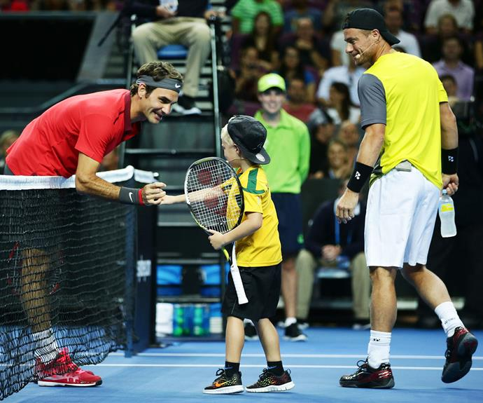 Not many seven-year-olds can say that they've played tennis with the likes of Roger Federer.