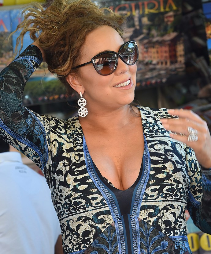 Mariah's engagement ring is believed to be a whopping 35 carats!
