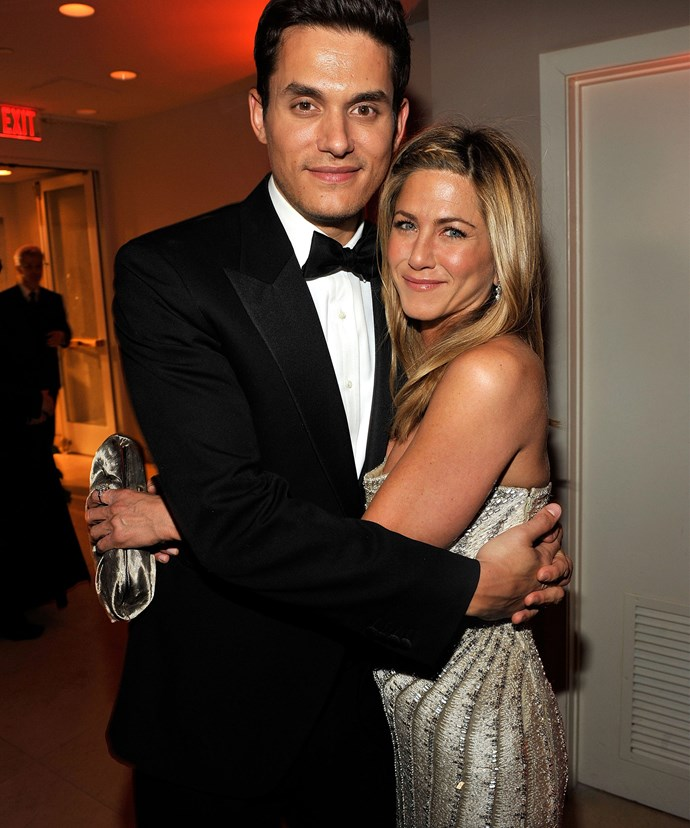 John Mayer and Jennifer Aniston attended the 2009 Vanity Fair Oscar party together.