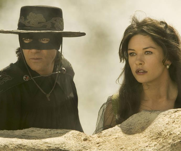 In fact she still channels the beauty from one of her most famous role, Elena Montero in the 1998 classic, *The Mask of Zorro*.