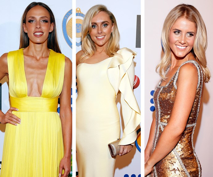 All that glitters is yellow and gold: Becky Boston, Danielle Willis and Anna Weatherlake bring their A-game.