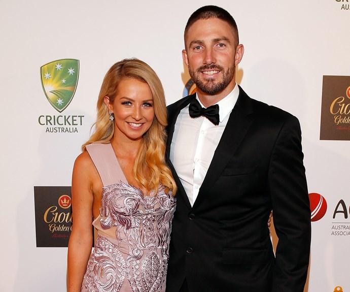 Shaun Marsh with his leading lady, Rebecca Marsh.