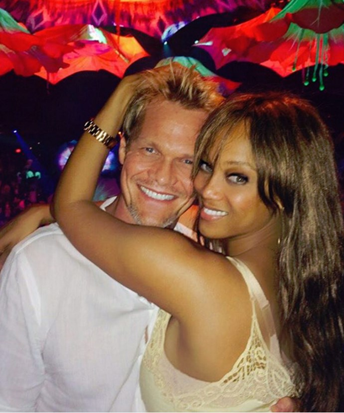 "In the good times: Tyra shared this snap with Erik saying, ""Everyone deserves to be loved like this."""