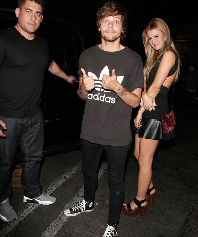 Louis and Briana during their short-lived romance last year.
