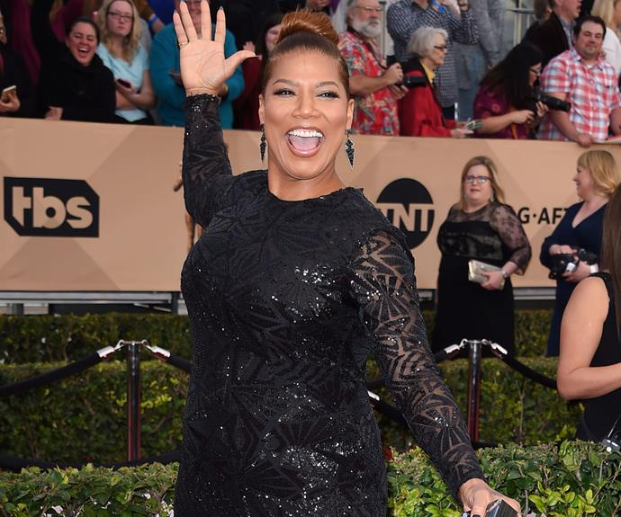"""I'm here!"" Queen Latifah is her usual fabulous self."