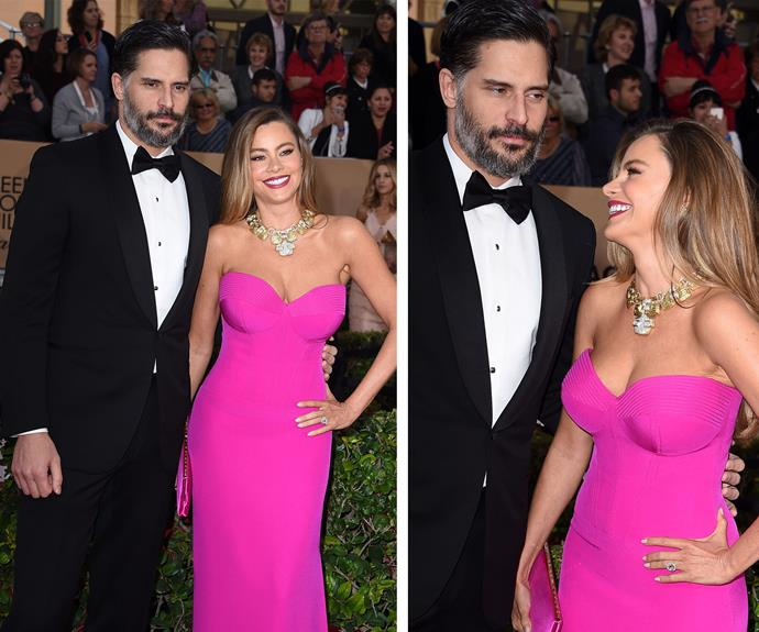 Speaking of hot, let's take a moment for the evening's sexiest newlyweds, Sofía Vergara and her hubby, Joe Manganiello.