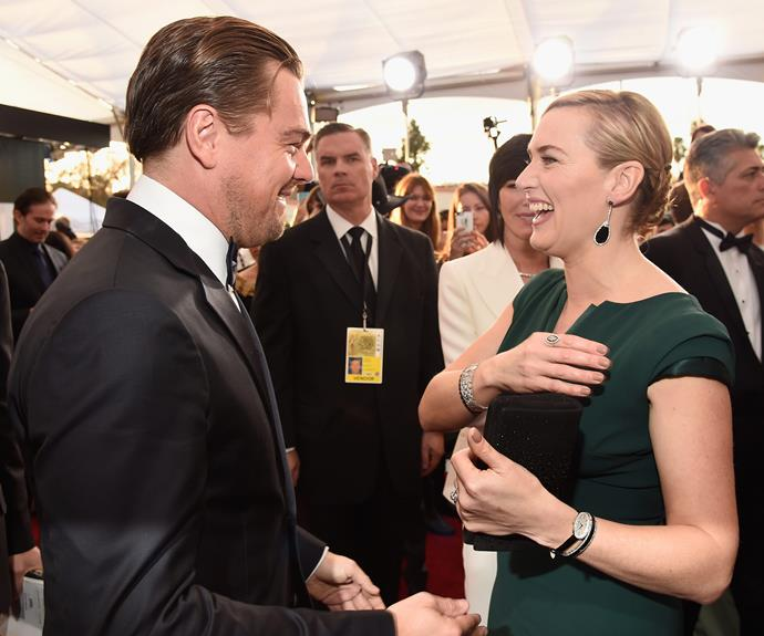 While the evening may be about celebrating the most outstanding performances in film and television- Kate Winslet and Leonardo DiCaprio took out the night's most adorable duo.
