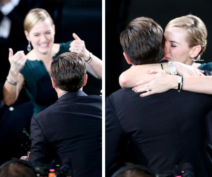 Fans were completely shipping the pair after Kate congratulated her friend for winning the Best Actor gong.