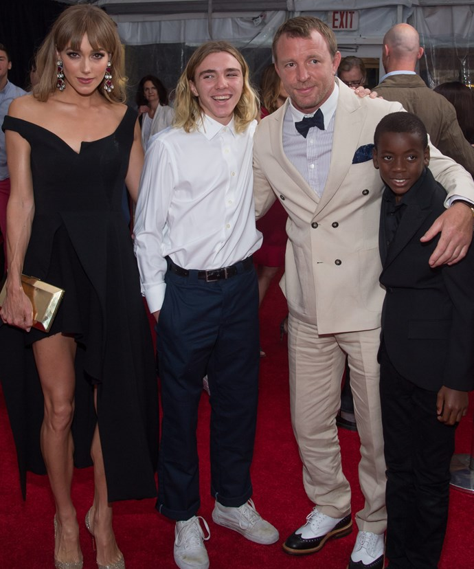 Rocco with his father, brother David Banda and stepmum Jacqui Ainsley. Photo: Getty