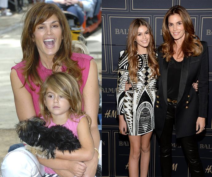 Next generation: As one of the world's most influential models prepares to take a step back, her legacy is safe in her mini-me daughter's hands. Kaia Gerber, 14, [has inherited her mother's incredible features](http://www.womansday.com.au/life/family/cindy-and-kaia-crawford-are-the-ultimate-mum-daughter-duo-14064) and she's already made waves in the modelling world.