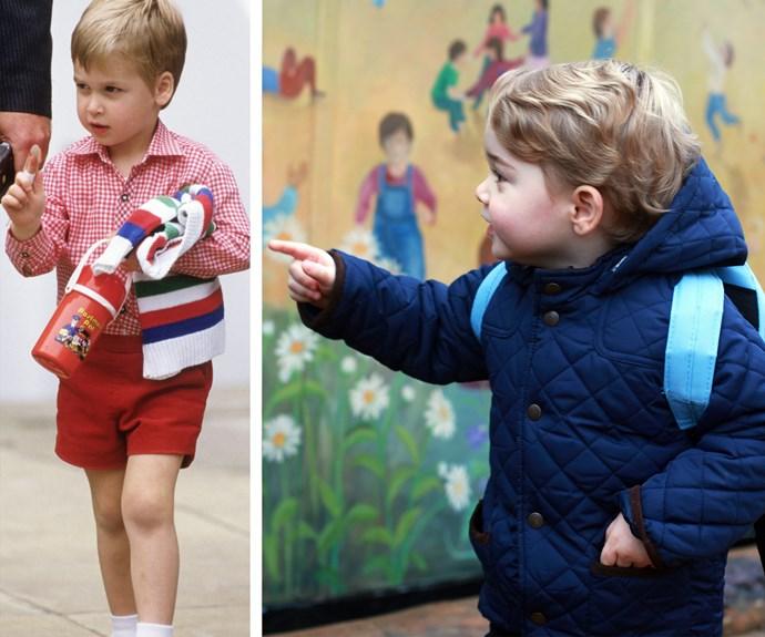 Just like Daddy! George is loving life in school lane.