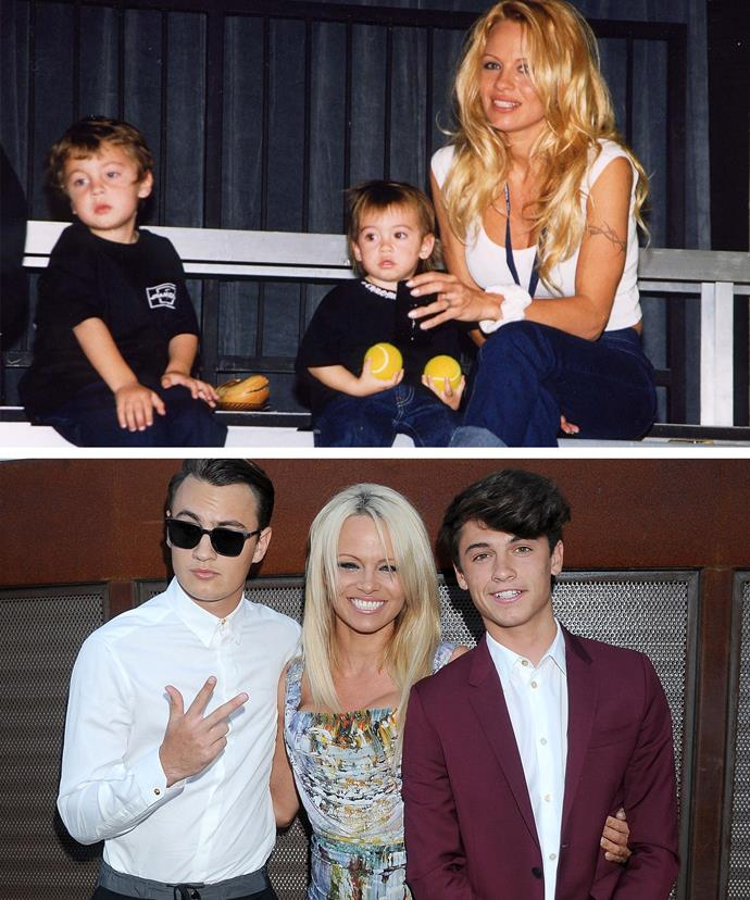Pamela's boys have grown up into incredibly good looking young men.