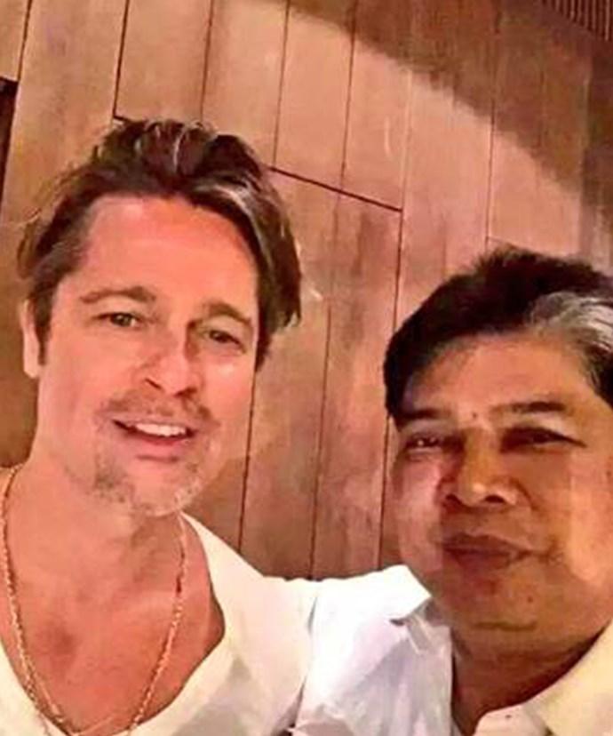 Brad with Thai tattoo master Ajarn Noo Kanpai.