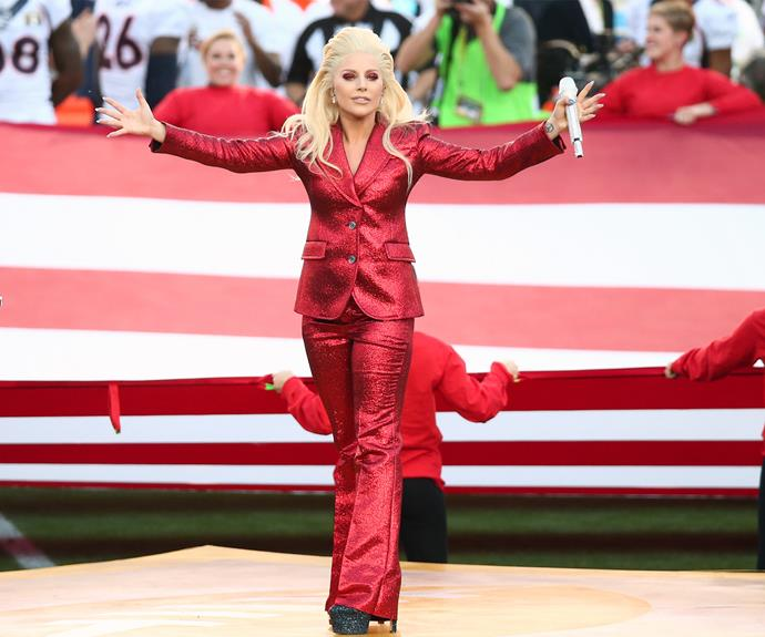 Slay Gaga! A big performance needs even bigger hair. Just ask [Mother Monster](http://www.womansday.com.au/celebrity/hollywood-stars/lady-gaga-wins-her-first-golden-globe-award-14442) who killed her delivery of the American National Anthem.
