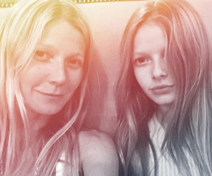 Gwyneth Paltrow and daughter Apple look spookily similar in this shot she shared on Instagram.