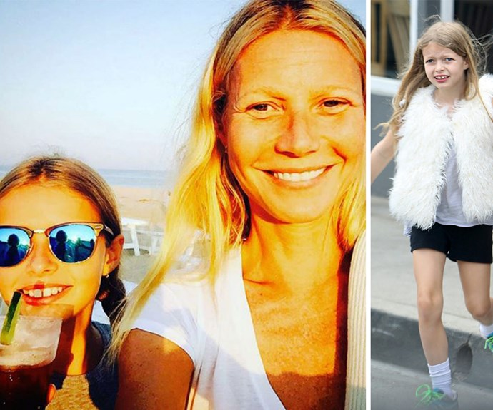 With her shiny blonde locks and big smile, the star's daughter is truly Gwynnie's mini-me.
