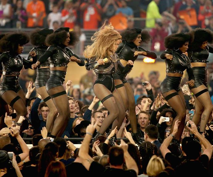 The day before the half-time show, Bey dropped her new single *Formation* and it's gone gangbusters.