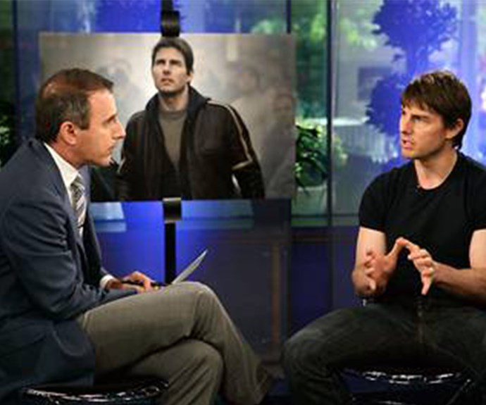 You could cut the tension with a knife during Tom's infamous 2005 interview with Matt Lauer.