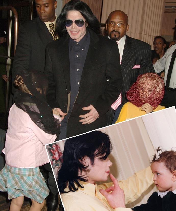 Paris, pictured with her father as a child, understands the burden Michael went through due to life in spotlight.