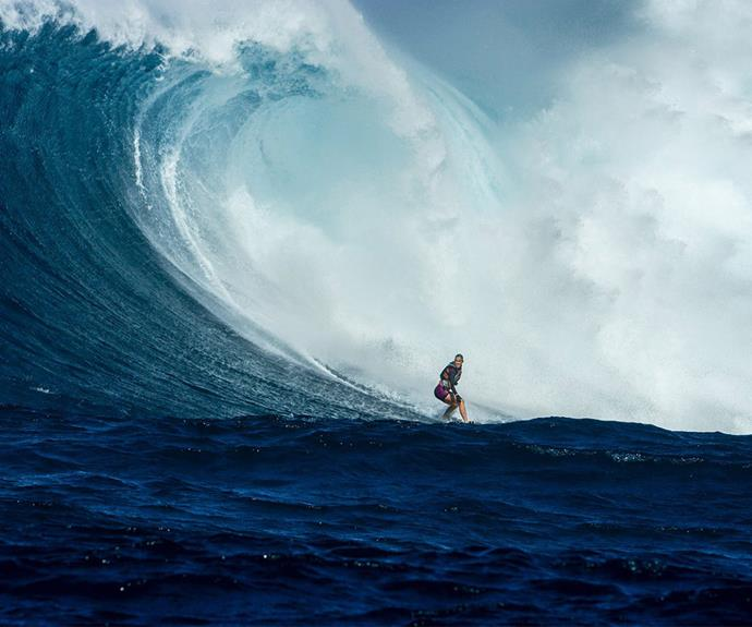 """In January this year, the sports star kicked yet another huge goal - surfing the 50-foot waves at infamous spot Pe'ahi in Hawaii, aka Jaws. """"I've always had a passion for big waves and pushing my ability. Today, that's what I got to do. It's an amazing feeling to be surrounded by people I love, who support and believe in my ability,"""" she said at the time."""