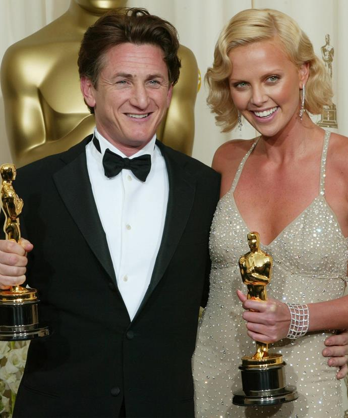 Sean Penn and Charlize Theron at the Oscars last year.