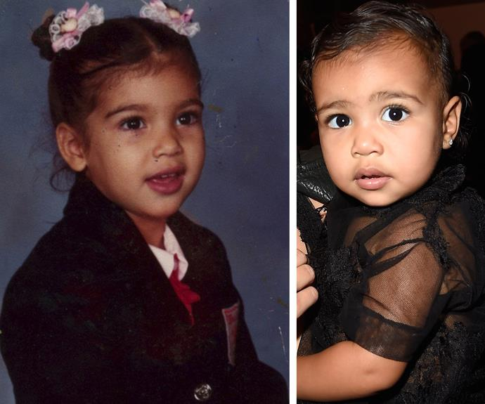 Undoubtedly one of the most fabulous bubbas, Miss North West seriously takes after her reality star mum, Kim Kardashian.