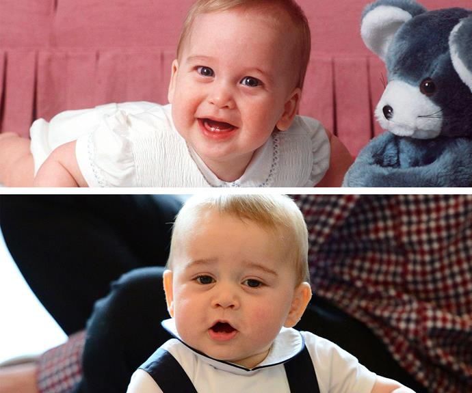 It's hard to believe how similar George and Wills are as little tykes!